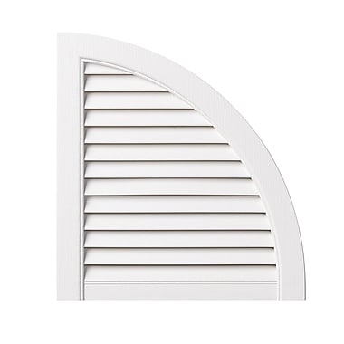 PlyGem Open Louvered Arch Top (Set of 2); White