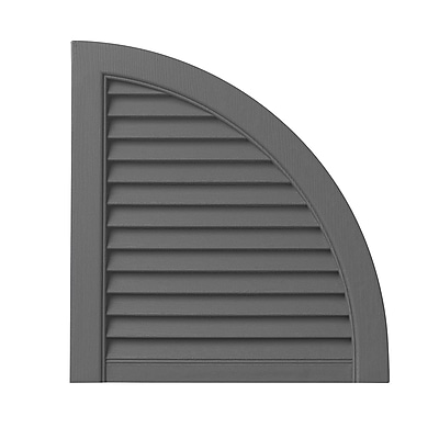 PlyGem Open Louvered Arch Top (Set of 2); Gray WYF078278530810