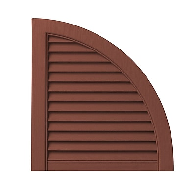 PlyGem Open Louvered Arch Top (Set of 2); Red WYF078278530818