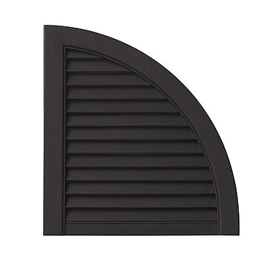 PlyGem Open Louvered Arch Top (Set of 2); Peppercorn