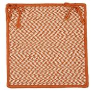 Colonial Mills Outdoor Houndstooth Tweed Chair Pad (Set of 4); Orange