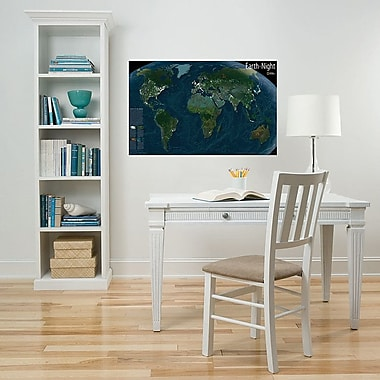 WallPops! Earth at Night Map Wall Decal