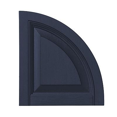 Ply Gem Raised Panel Arch Top (Set of 2); Dark Navy