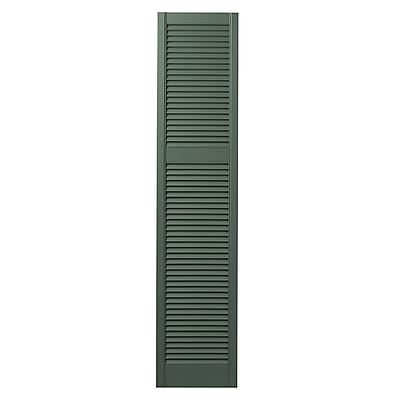 Ply Gem Cottage Louvered Shutter (Set of 2); Green
