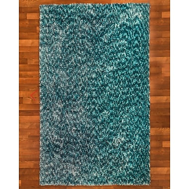 Natural Area Rugs Maldives Hand-Woven Blue Area Rug; 5' x 8'