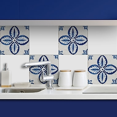 WallPops! Floral Peel and Stick Tiles Wall Decal