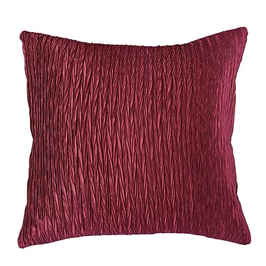 Wildon Home Dakayla Pillow Cover; Maroon