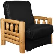 Epic Furnishings LLC Grand Teton Futon Chair; Leather Look Black