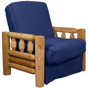 Epic Furnishings LLC Grand Teton Futon Chair; Suede Dark Blue