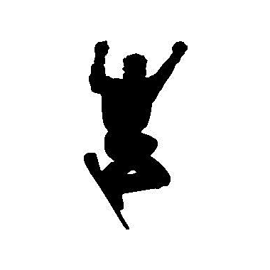 Wallhogs Snowboard Silhouette Cutout Wall Decal; 24'' H x 13'' W