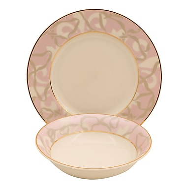 Shinepukur Ceramics USA, Inc. Shadow Ivory China 24 Piece Completer Set