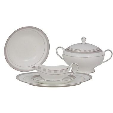 Shinepukur Ceramics USA, Inc. Spectrum Bone China Special Serving 5 Piece Dinnerware Set