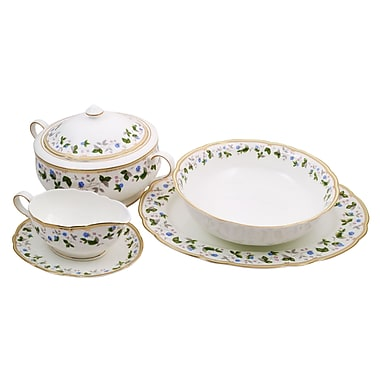 Everglades Bone China Special Serving 5 Piece Place Setting, Service for 1