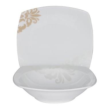 Shinepukur Ceramics USA, Inc. Bloomfield Square Fine China 24 Piece Completer Set