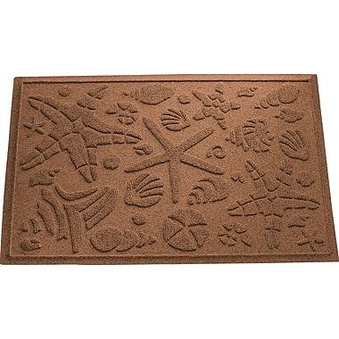 Bungalow Flooring Aqua Shield Beachcomber Doormat; Dark Brown