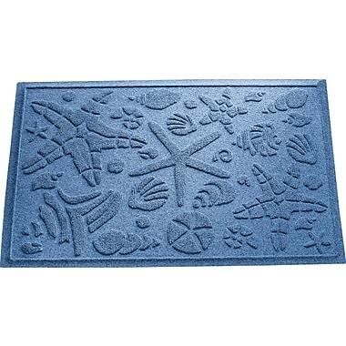 Bungalow Flooring Aqua Shield Beachcomber Doormat; Medium Blue