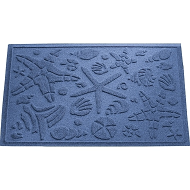 Bungalow Flooring Aqua Shield Beachcomber Doormat; Navy