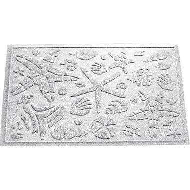 Bungalow Flooring Aqua Shield Beachcomber Doormat; White