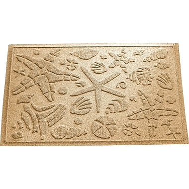 Bungalow Flooring Aqua Shield Beachcomber Doormat; Gold