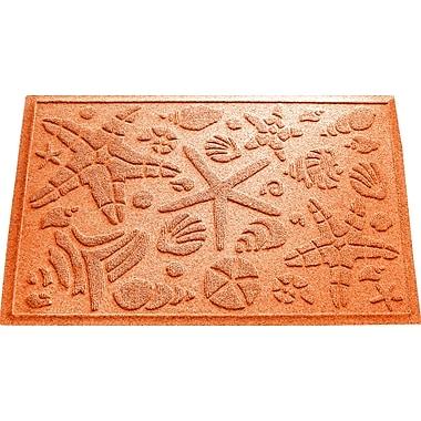 Bungalow Flooring Aqua Shield Beachcomber Doormat; Orange