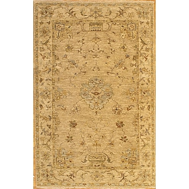 Pasargad NY Hand-Knotted Beige Area Rug