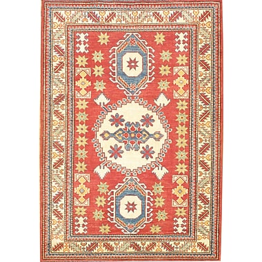 Pasargad NY Hand-Knotted Red/Blue Area Rug