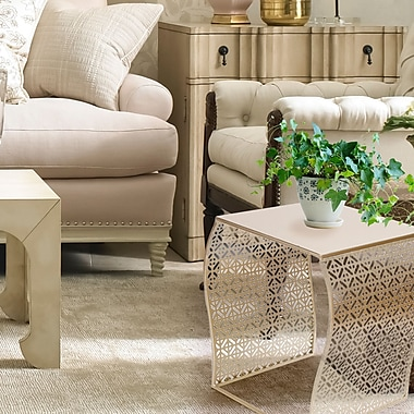AdecoTrading 2 Piece Nesting Tables