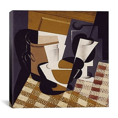 iCanvas ''Broc et Verre (Wine Jug and Glass)'' by Juan Gris on Canvas; 12'' H x 12'' W x 0.75'' D