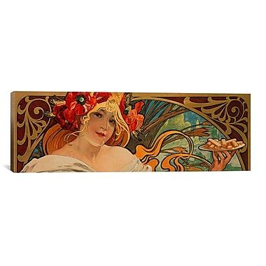 iCanvas 'Biscuits Lefevre Utile' by Alphonse Mucha Graphic Art on Canvas; 12'' H x 36'' W x 0.75'' D