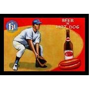 Buy Art For Less 'Beer & Hot Dog' by Robert Downs Framed Graphic Art