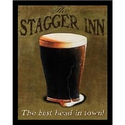 Buy Art For Less 'Stagger Inn' by Robert Downs Framed Graphic Art