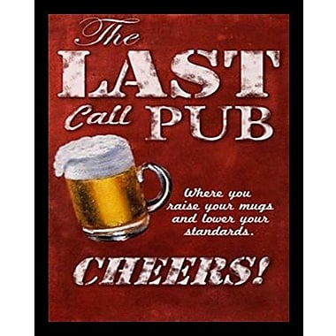 Buy Art For Less 'Last Call Pub' by Robert Downs Framed Graphic Art