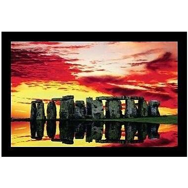 Buy Art For Less 'Stonehenge Reflections' by Jim Zuckerman Framed Graphic Art