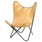 Fashion N You Gold Leather Butterfly Lounge Chair