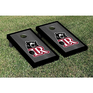 Victory Tailgate NCAA Onyx Stained Border Version Cornhole Bag Toss Game Set; Lenoir Rhyne Bears