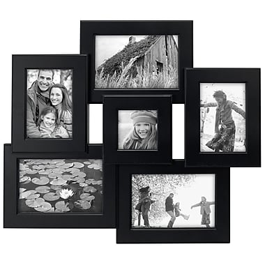 Malden Beveled Collage Black Picture Frame Set