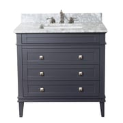 KBC Eleanor 36'' Single Bathroom Vanity Set; Charcoal Gray
