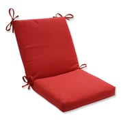 Pillow Perfect Tweed Dining Chair Cushion; Red