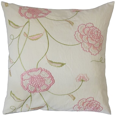 The Pillow Collection Bellona Floral Cotton Throw Pillow; 20'' x 20''