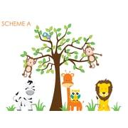 Wall Decal Source Nursery Jungle, Tree, Giraffe and Safari Wall Decal; Scheme A