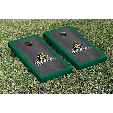 Victory Tailgate NCAA Onyx Stained Border Version Cornhole Bag Toss Game Set; Wright State Raiders