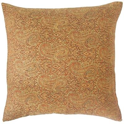 The Pillow Collection Carabella Paisley Cotton Throw Pillow; 20'' x 20''