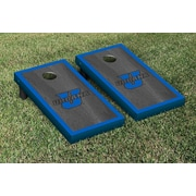 Victory Tailgate NCAA Onyx Stained Border Version Cornhole Bag Toss Game Set; Urbana Blue Knights