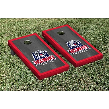 Victory Tailgate NCAA Onyx Stained Border Version Cornhole Bag Toss Game Set; Belmont Bruins