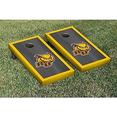 Victory Tailgate NCAA Onyx Stained Border Version Cornhole Bag Toss Game Set; Rowan University Profs