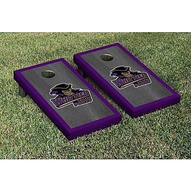Victory Tailgate NCAA Onyx Stained Border Version Cornhole Bag Toss Game Set; Whittier College Poets