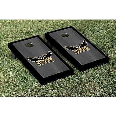 Victory Tailgate NCAA Onyx Stained Border Version Cornhole Bag Toss Game Set; Kennesaw State