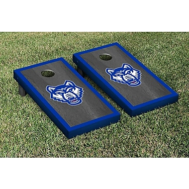 Victory Tailgate NCAA Onyx Stained Border Version Cornhole Bag Toss Game Set; West Georgia Wolves
