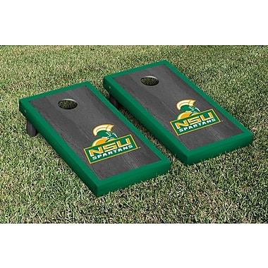 Victory Tailgate NCAA Onyx Stained Border Version Cornhole Bag Toss Game Set; Norfolk State Spartans