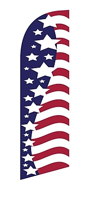 NeoPlex USA Vertical Star and Stripes Swooper Flag